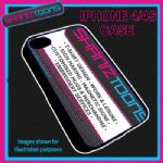 FITS IPHONE 4 / 4S PLASTIC PHONE COVER CASE PERSONALISED LOGO DESIGN PICTURE
